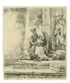Rembrandt, The Return of the Prodigal Son, 1636. Bartsch 91.