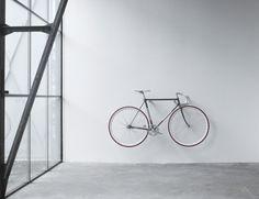 Minimalist bike storage.