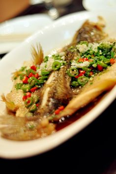 Steamed Bass, Chinese cuisine, 拉斐特Hotel Beijing