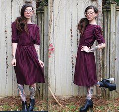Vintage / / 70er siebziger Jahre Maxi-Kleid / / von ThriftShark