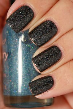 Wet and Wild Blue Wants to be a Millionaire layered over Wet and Wild Black Cream.