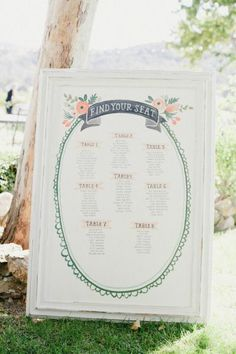 Peach Floral Seating Chart