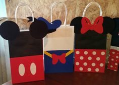 Mickey clubhouse favor bags por SophiesPartyGoods en Etsy
