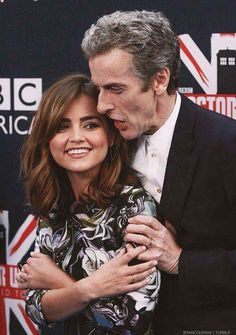 Peter Capaldi and Clara