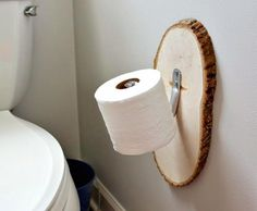 Creative diy toilet paper holder creative bathroom ideas on a budget Wooden Toilet Paper Holder, Paper Stand, New Toilet, Tissue Holders, Easy Diy, Simple Diy, Bathroom Interior, Bathroom Models, Bathrooms