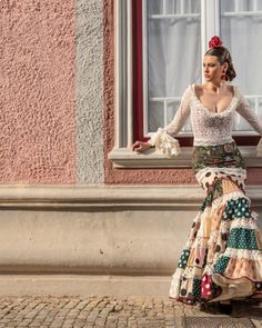 Dressy Dresses, Spanish Style, Fishtail, Mermaid, Women's Fashion, Templates, Flamenco Dresses, Pattern Drafting, Stripes