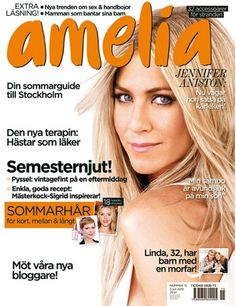 amelia nr 15 Jennifer Aniston, Amelia, Cover, Beauty, Beauty Illustration