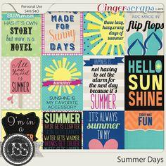 Summer Days Journal and Pocket Scrap Cards
