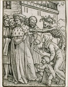 Hans Holbein, the Younger (German, 1497 or 1498–1543) Dance of Death the Duke | Museum of Fine Arts, Boston