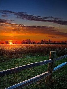 I can remember sunsets on our farm. Not so much the sunrise as I liked to sleep in back then.