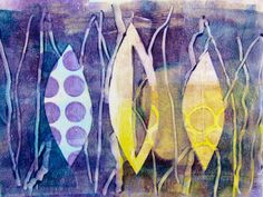 Blog and Video Tutorial: Gelli Printing on Fusible Interfacing... The printing process is the same as it is for paper. The one difference is that the paint on the gel plate can bleed through the back of the interfacing as you print. So I recommend using a cover sheet to keep your hands and print clean. A piece of blank newsprint paper, copy paper or deli paper works great as a cover sheet.