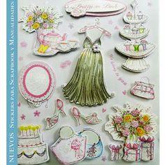 Planillas de #Stickers colección #pretty in pink Ideales para #scrapbook y #manualidades. Pídelos con las claves: DJS 103 D