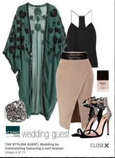 wedding guest outfit...the skirt and the shoes are on