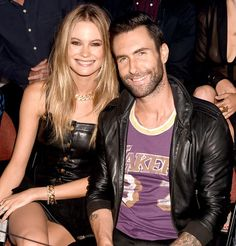 "Adam Levine Talks Behati Prinsloo Marriage and Family: ""I Want to Have More Kids Than Would Be Socially Responsible"" Celebrity Couples, Celebrity Style, Adam Levine Behati Prinsloo, Adam And Behati, Elle Magazine, Marriage And Family, Expecting Baby, Celebrity"