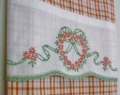 Embroidered Tea Towels Hand Embroidered Dish Towel Patterns Machine Embroidery  Tea Towel Toppers Hand Embroidered Tea