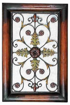 """Rustic Metal wall Plaque is 36"""" in height and 24"""" wide .Classic metal piece for any home decor.Catch the new trend in home furnishing."""