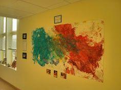 Fall 2013 Art Show @ Sandcastle Preschool; collaborative art project