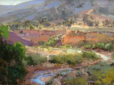 Johnson Canyon by Kathryn Stats - a CBPAI Invited Artist! www.crestedbuttepleinairinvitational.com