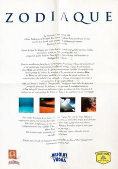 24/05/1995 - Soirée du Zodiaque (Verso). Design: C. Brochier Design, Winter Games, Zodiac, Gaming