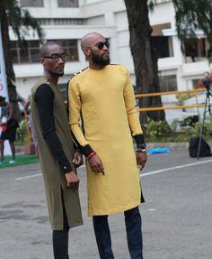 African fashion wear for male Nigerian Men Fashion, African Men Fashion, Africa Fashion, African Shirts, African Wear, African Attire, Fashion Wear, Look Fashion, Street Fashion