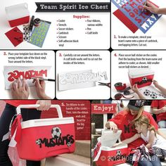 Is it your turn for team treats?  Make this super hip personalized cooler for your thirsty players.