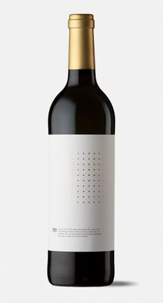 Spotted Matrix Marketing - Ninety Wine Packaging Has a Dotted Grid to Graphically Represent Quality (GALLERY)