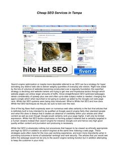 Cheap SEO Services in Tampa by Sorin Popescu via Slideshare #SEO #WhiteHatSEO #Tampa #Florida