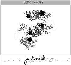 Resultado de imagen para boho florals 2 silhouette