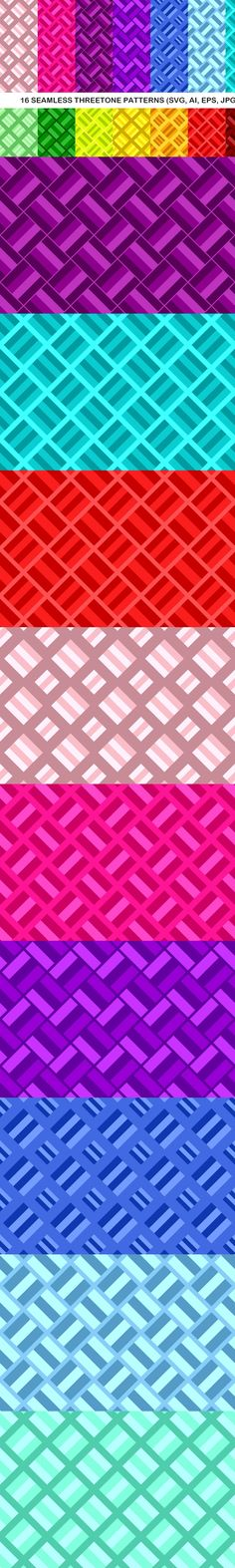 16 Seamless ThreeTone Square Patterns #abstract #geometry #patterns #AbstractDesign #squares #PatternSale #pattern #BackgroundGraphic #squarepattern #square #GeometricBackgrounds #GeometricDesign #squarepattern #GeometricBackground #abstract #SquareBackgrounds #BackgroundDesign #geometry #CheapVectorBackgrounds