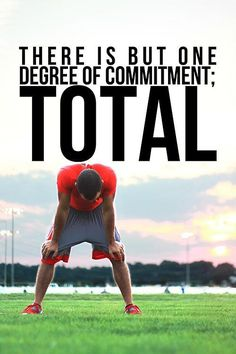 There is only one degree of commitment; TOTAL. Amen. #fitfluential