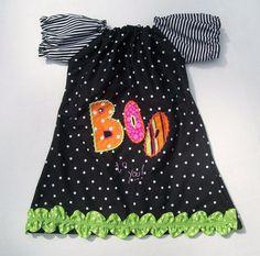 Girls Halloween Shirt  Boutique Frankenstein Applique by pb3j, $32.50   Cuter if it had leggings to match