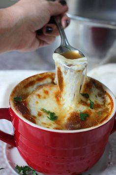Slow Cooker French Onion Soup #recipes #food