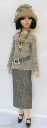 """OOAK Lady Amber Remains Neutral for 16"""" Ellowyne etc Made by Ssdesign S 