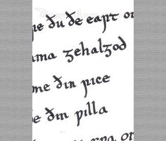 Old English Lord's Prayer ACEO
