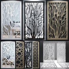 models: Other decorative objects - Set of decorative panels Living Room Partition Design, Pooja Room Door Design, Room Partition Designs, Wood Partition, Metal Walls, Metal Wall Art, Metal Wall Decor, Gate Design, House Design