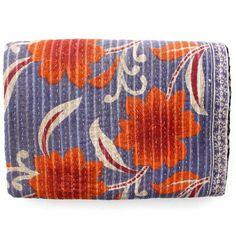 Vintage Kantha Quilt Handmade Indian Cotton Throw Blanket Bedding Bedspread X652 #Handmade #Kantha