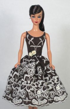 Iced Coffee Vintage Barbie Doll Dress Reproduction Barbie Silkstone Barbie   eBay