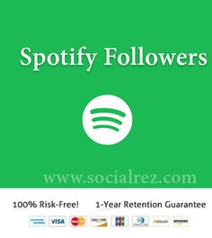 Buy Real Spotify Followers at most affordable price. We offer Fastest Delivery, Highest Quality Followers & Plays, 24/7 Support, with a Money-back Guarantee!