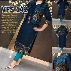 Dupatta Sets Classic Women's Kurta Set Fabric : Kurti - Rayon, Jacket - Rayon Sleeves: 3/4 Sleeves Are Included Size : Kurti - M - 38 in, L - 40 in, XL - 42 in, XXL - 44 in, Jacket - M - 38 in, L - 40 in, XL - 42 in, XXL - 44 in, Length: Kurti - Up To 41 in, Jacket - Up To 44 in Type: Stitched Description: It Has 1 Piece Of Kurti With Detachable jacket Work: Printed Sizes Available: Free Size, XS, S, M, L, XL, XXL, 5XL, 6XL, 7XL, 8XL, 9XL This product has very limited stock. Order fast!   Catalog Rating: ★3.9 (916)  Catalog Name: Women'S Printed Rayon Kurta Sets CatalogID_170664 C74-SC1853 Code: 814-1330714-