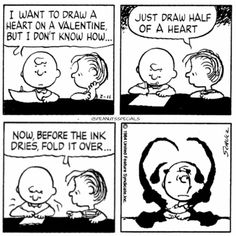 First Appearance: February 11th, 1984 #peanutsspecials #ps #pnts #schulz #charliebrown #linus #draw #heart #valentine #ink #drys #fold #over www.peanutsspecials.com Peanuts Cartoon, Peanuts Snoopy, Peanuts Comics, Snoopy Valentine, Valentines, Linus Van Pelt, Charlie Brown Peanuts, Love You, My Love