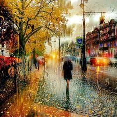 Walking in the Rain by Eduard Gordeev