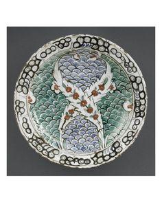 Plat aux 2 branches fleuries entrecroisées - Musée national de la Renaissance (Ecouen)