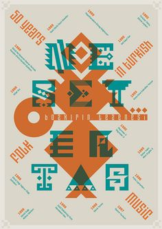 Neset Ertas / 50 Years in Turkish Folk Music / Poster  / 70X100 by geray gencer, via Flickr