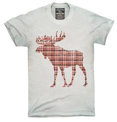 Plaid Moose Shirt, Hoodies, Tanktops