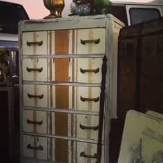 Antique waterfall dresser on Etsy, $315.00
