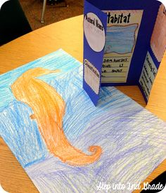 This week we have been working on nonfiction research. After we did our whole group study on whales , I wanted to take it a little further...