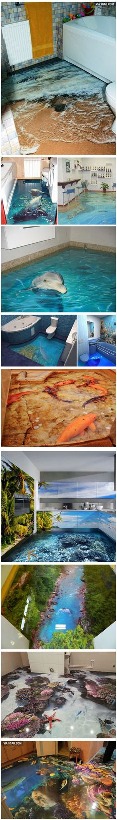 Awesome 3D Floor Designs That Turn Your Home Into An Ocean