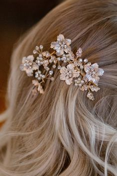 Rhinestone and Glass Beads Bridal Hair Comb O908  #crystal #piece #hair #head #pin #comb #jewelry #special #hairband #theknot