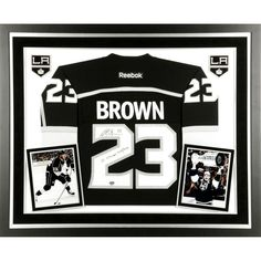 Dustin Brown Los Angeles Kings Fanatics Authentic Deluxe Framed Autographed 2014 Stanley Cup Champions Reebok Black Jersey with SC Champs 2012/2014 Inscription - $703.99
