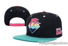 Pink Dolphin Waves Snapback in Nave|only US$8.90,please follow me to pick up couopons.